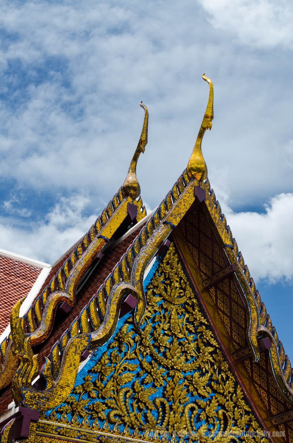 Buddhist Temple Roofing Detail, Chiang Mai, Thailand, Ben Ashmol