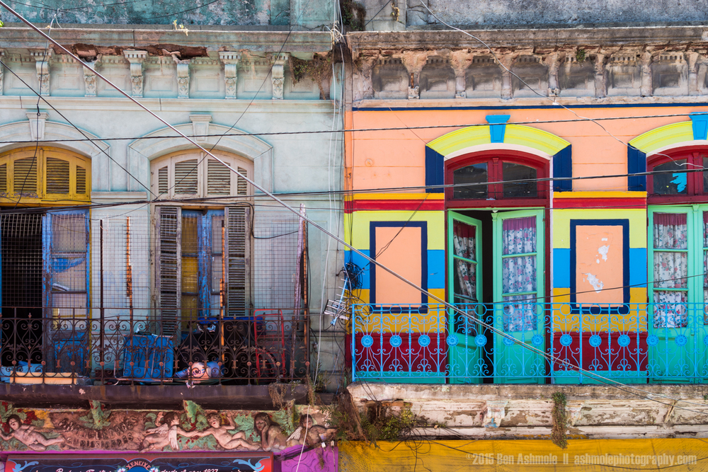 Caminito Balconies, La Boca, Buenos Aires, Argentina