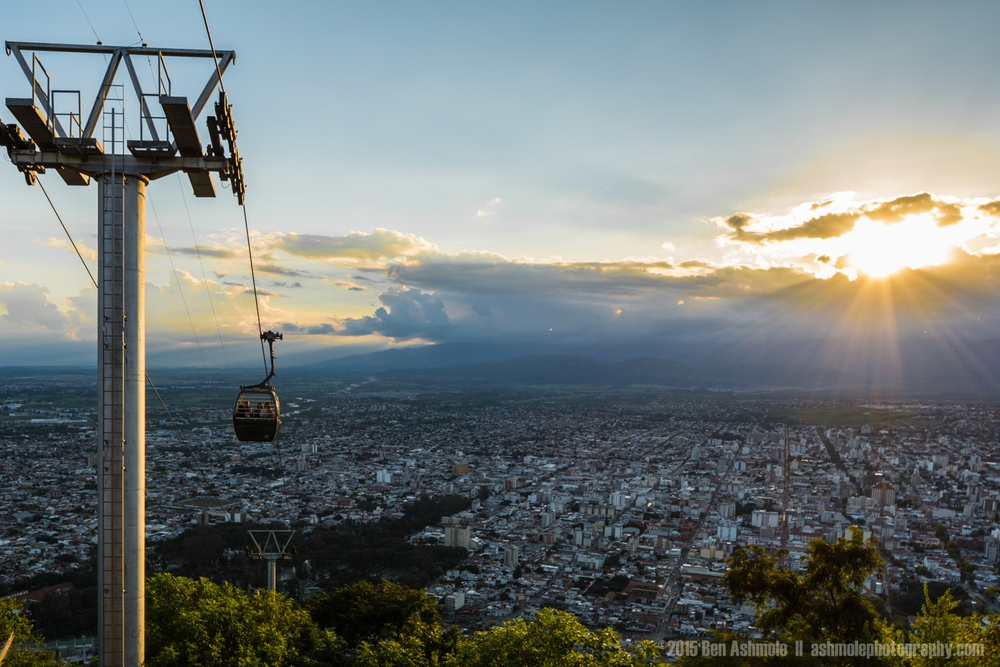 Sunset Cable Car Ride, Salta, Argentina