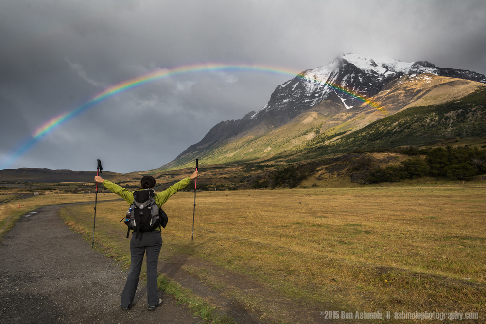 Hiking Rainbow, Torres Del Paine, Patagonia, Chile