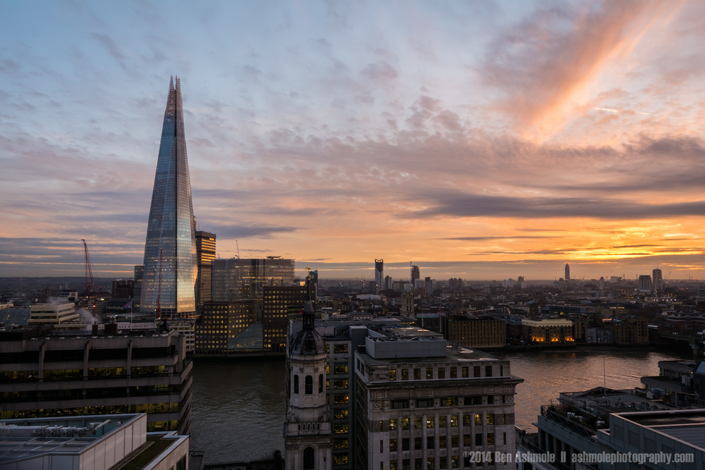 The Shard At Sunset, London, UK