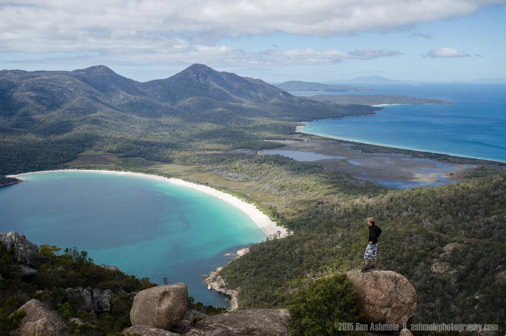 Wine Glass Bay Climber, Tasmania, Australia