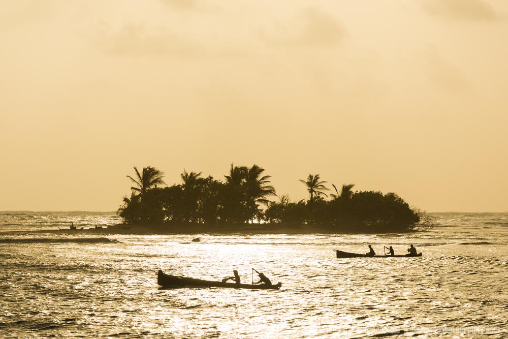Kuna Rowing, San Blas, Panama