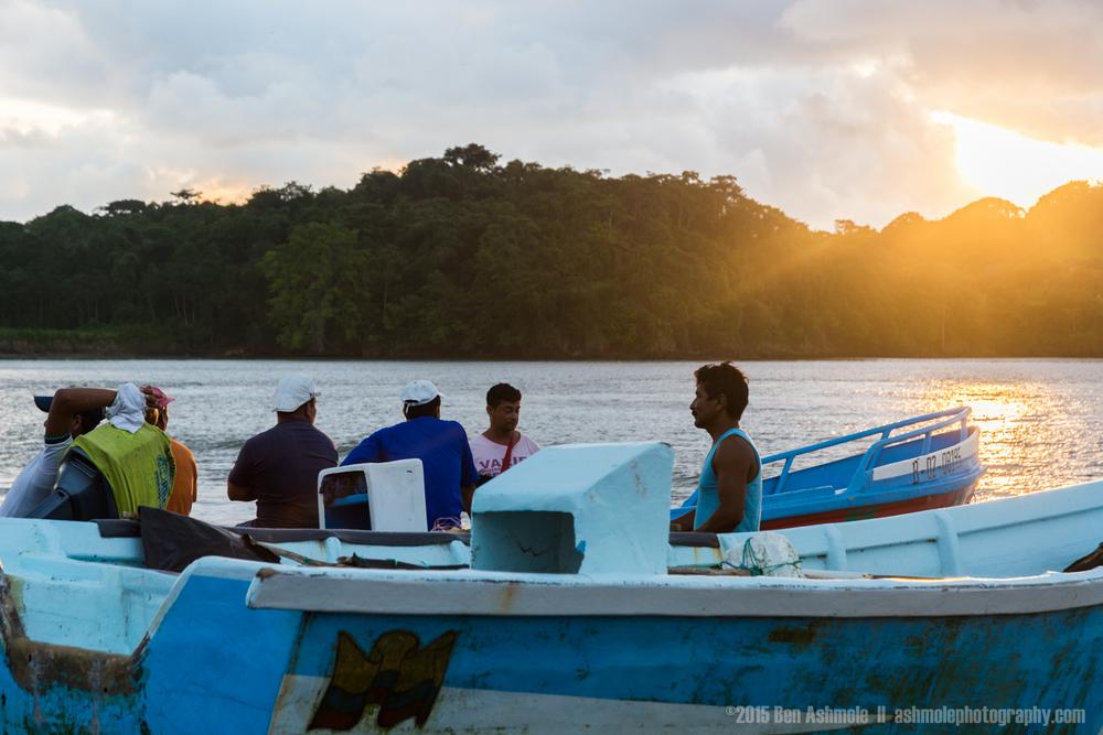 Fishermen Talking, Mompiche, Ecuador