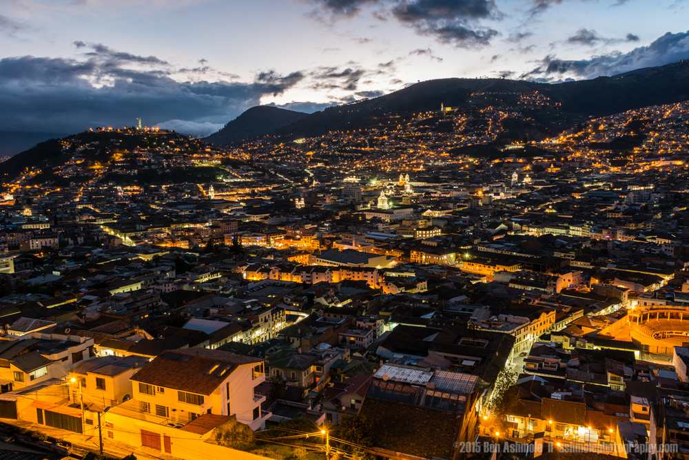 Quito City Night 2, Ecuador