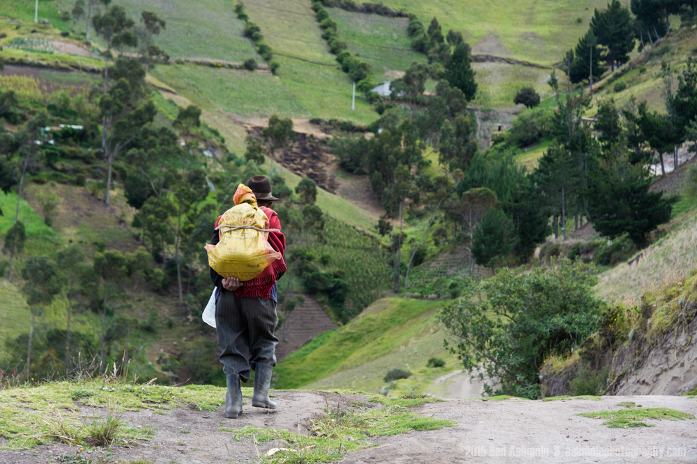 Walking Man, Quilotoa Loop, Ecuador