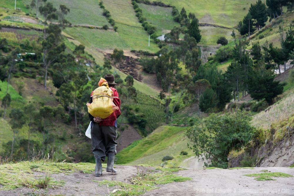 Walking Man, Quilotoa Loop, Ecuador