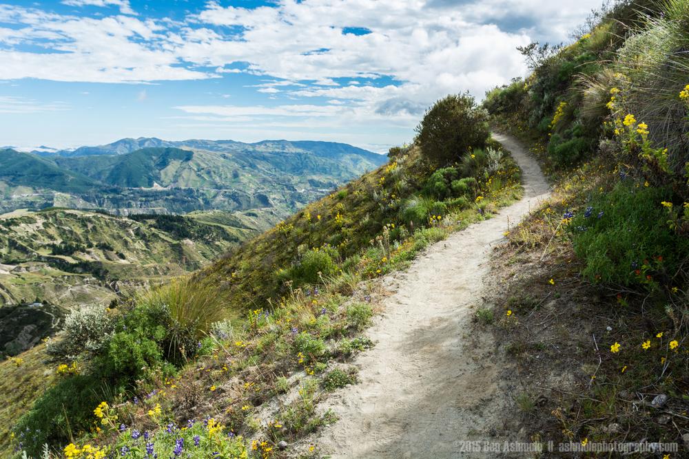 Walking Trail 2, Quilotoa Loop, Ecuador