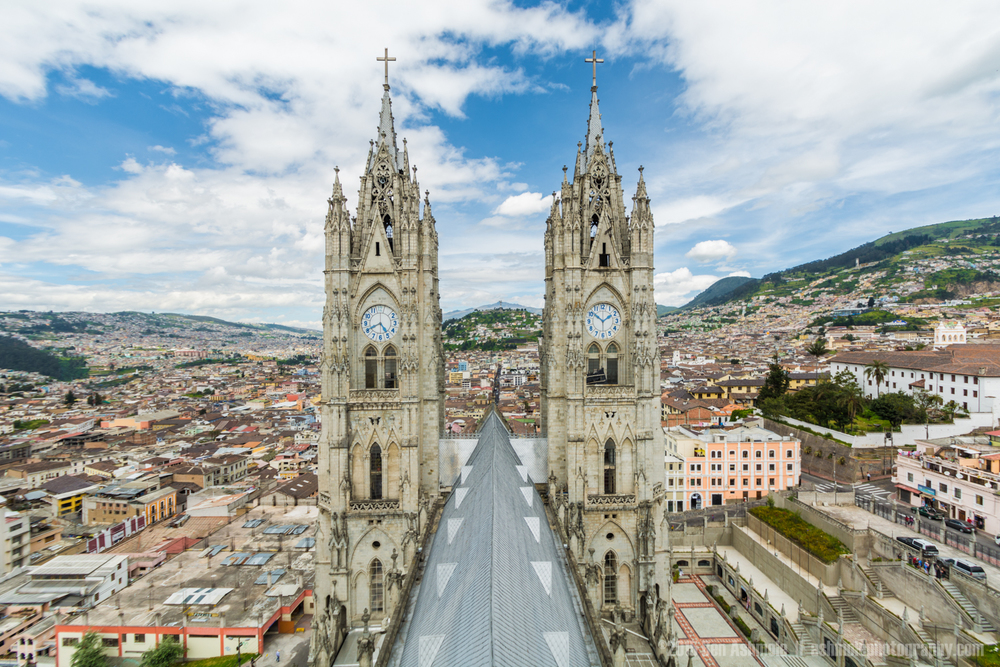 From The Roof, Cathedral Of Quito, Ecuador
