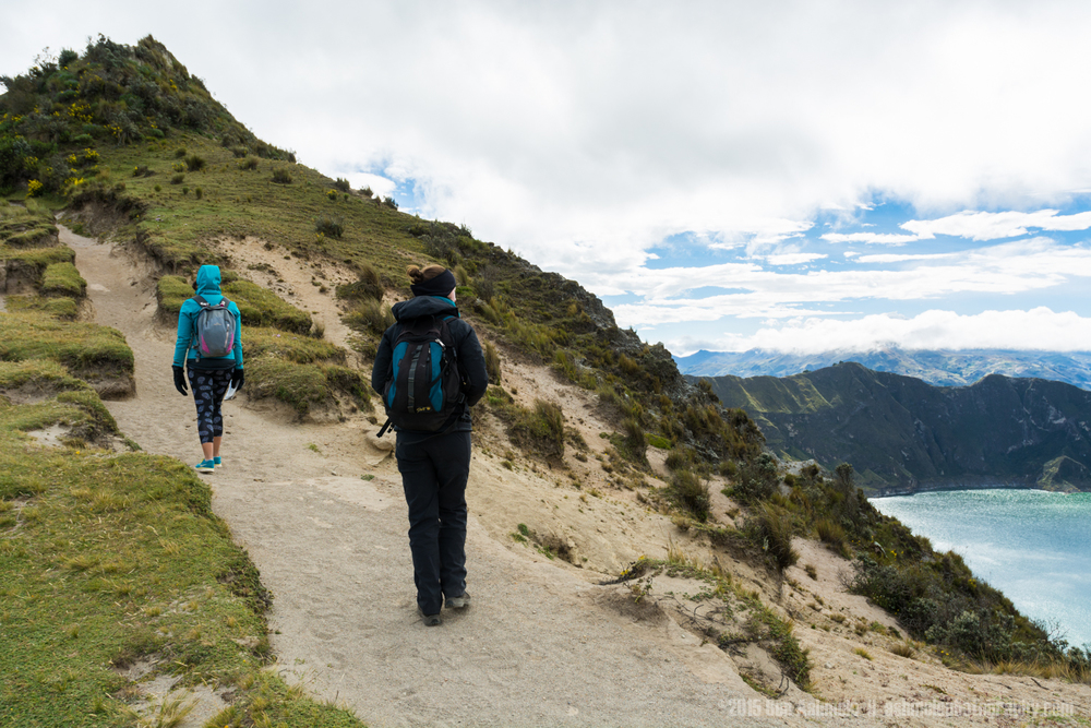 Hiking, Quilotoa Loop, Ecuador