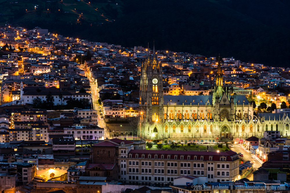 Quito Cathedral Night, Quito, Ecuador
