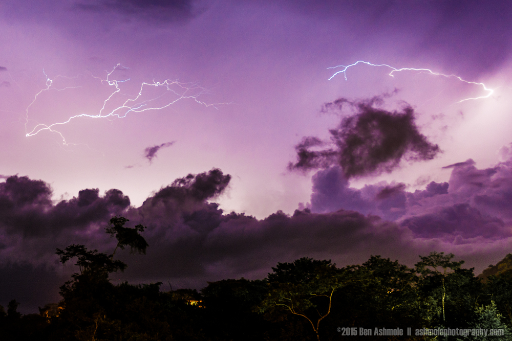 Midnight Lightning Storm, Manuel Antonio, Costa Rica