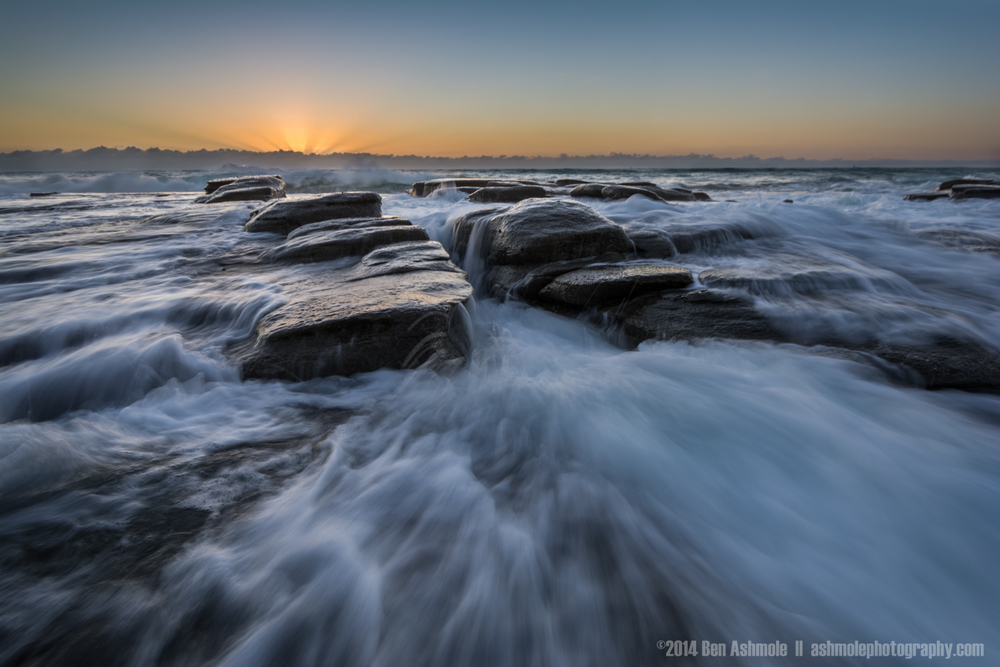 Tide On The Rocks, Mooloolaba, Queensland, Australia
