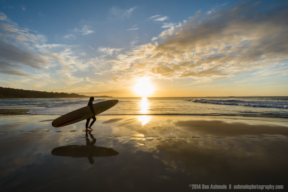 The Sunset Surfer, Cylinder Beach, Stradbroke Island, Queensland