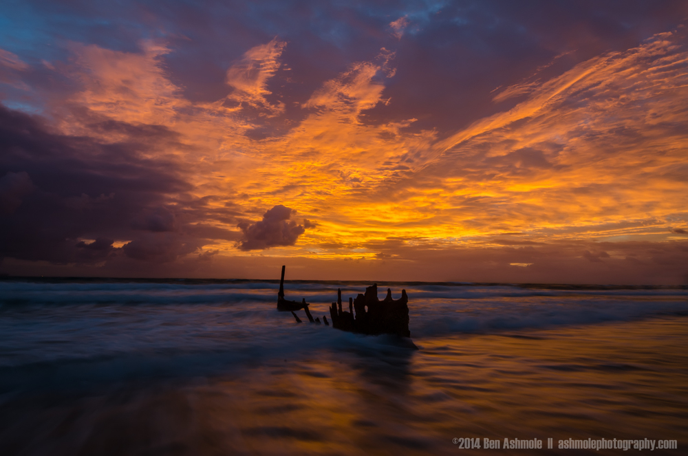 Shipwreck, Dicky Beach, Queensland, Australia