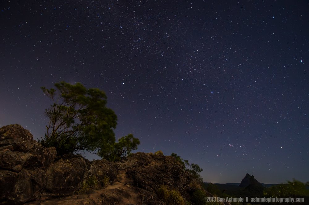 The Stars From Mt Ngungun, Glasshouse Mountains National Park, Q