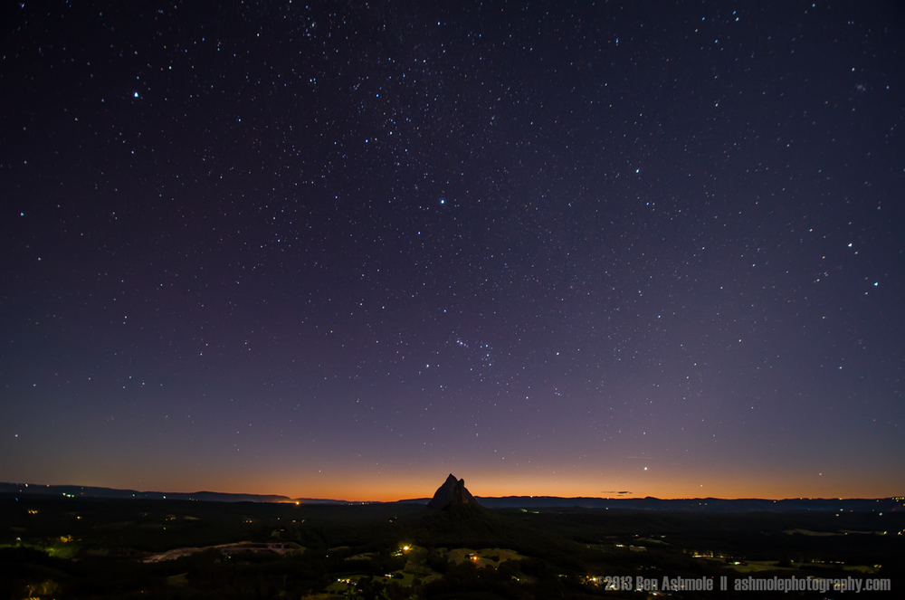 Mt Beerwah Under The Stars, Glasshouse Mountains National Park,