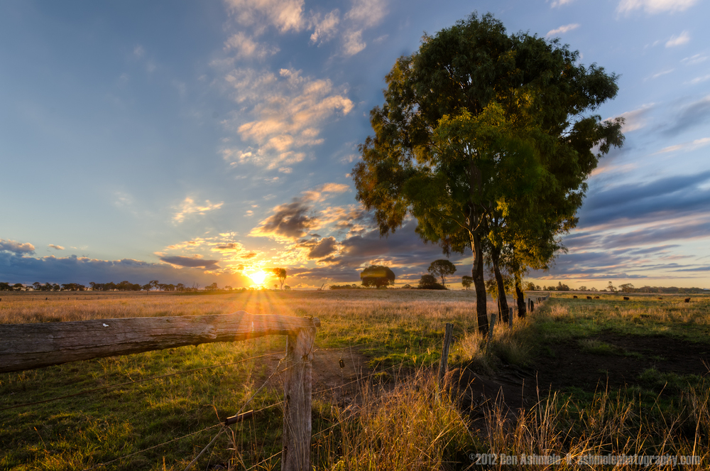 Queensland Rural Sunset, Australia, Ben Ashmole