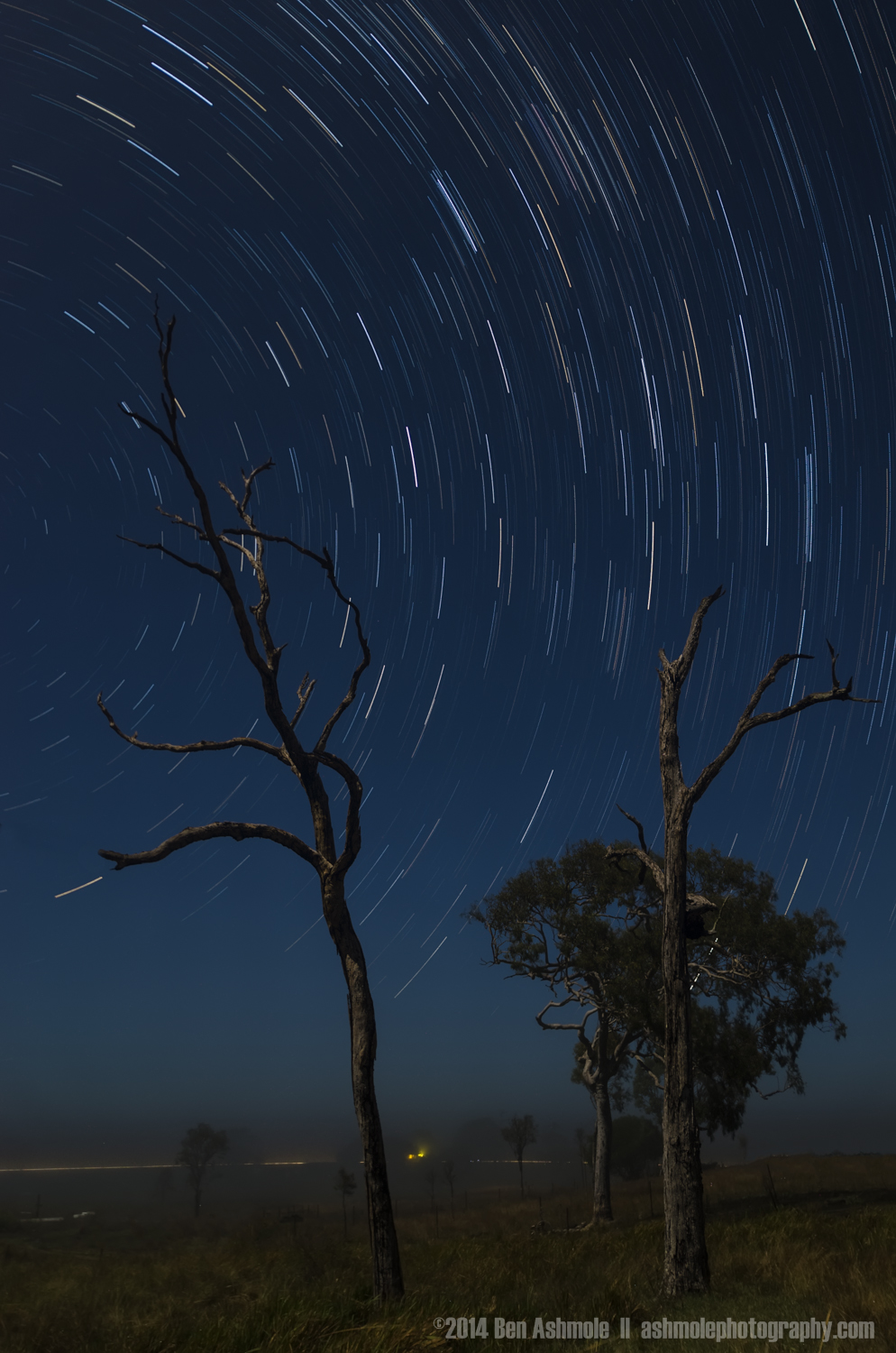 Star Trails, Bundaberg, Queensland, Australia