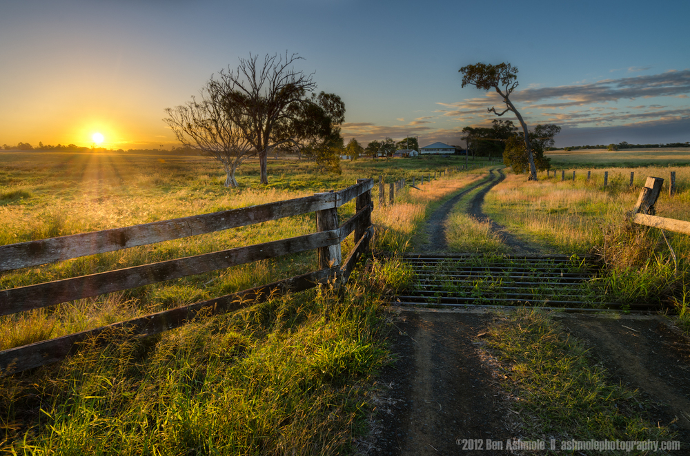 Farm Road Sunset, Queensland, Australia, Ben Ashmole