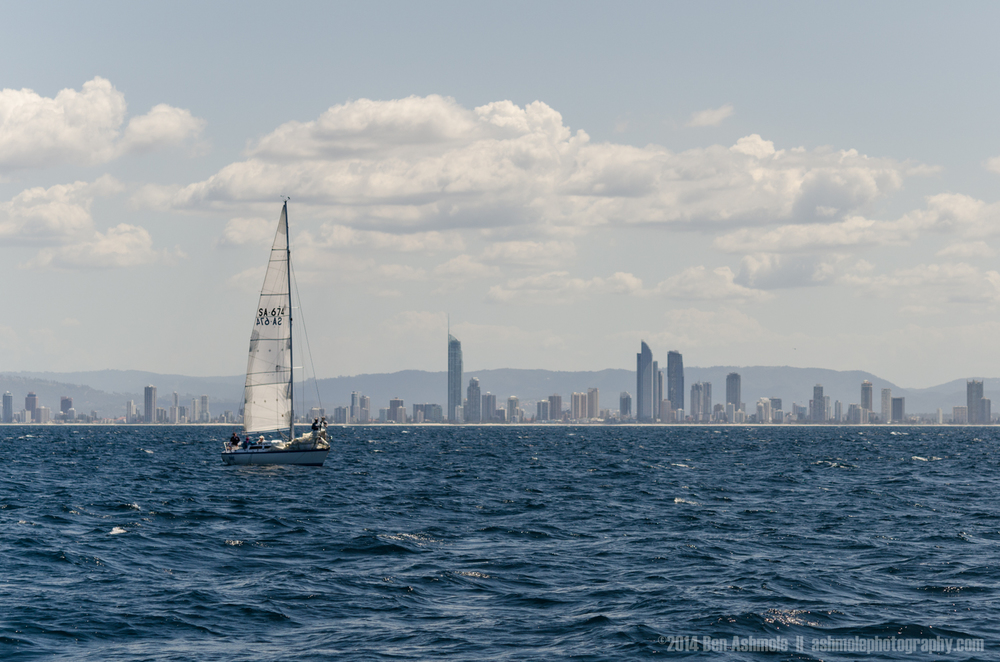 Sailing Past Gold Coast, QLD, Australia