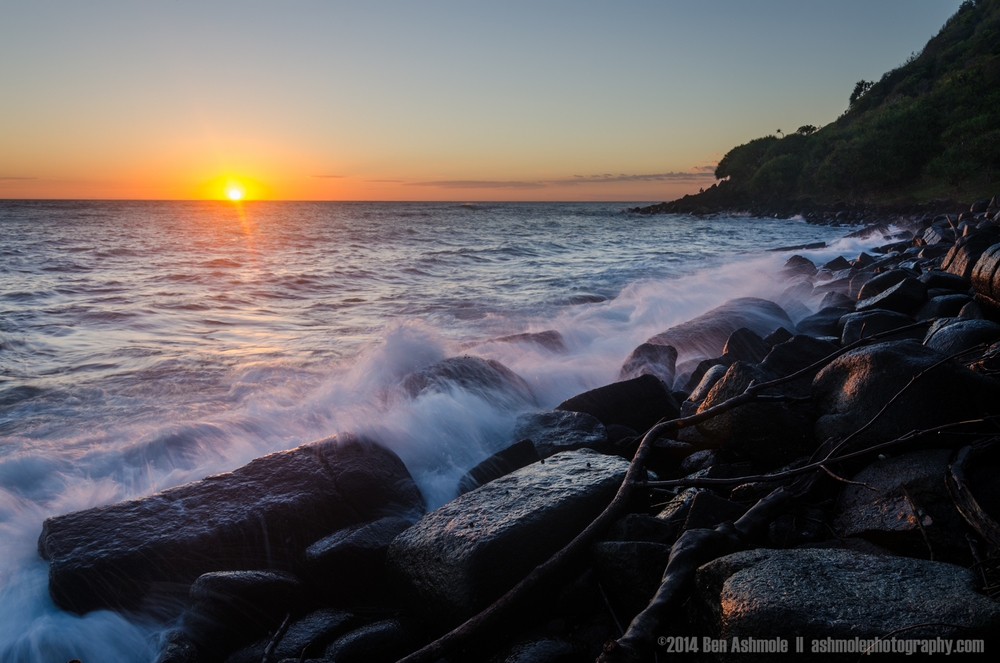 Rocky Coast Sunrise, Burleigh Heads, Gold Coast, Australia
