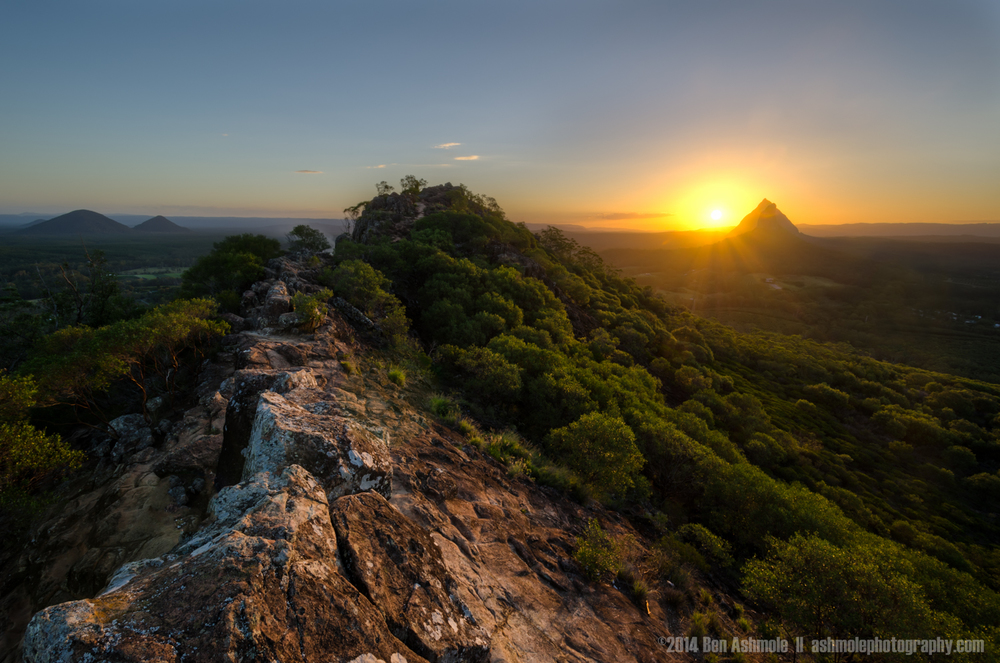 Golden Peak, Mt Ngungun, Glasshouse Mountains National Park, Aus
