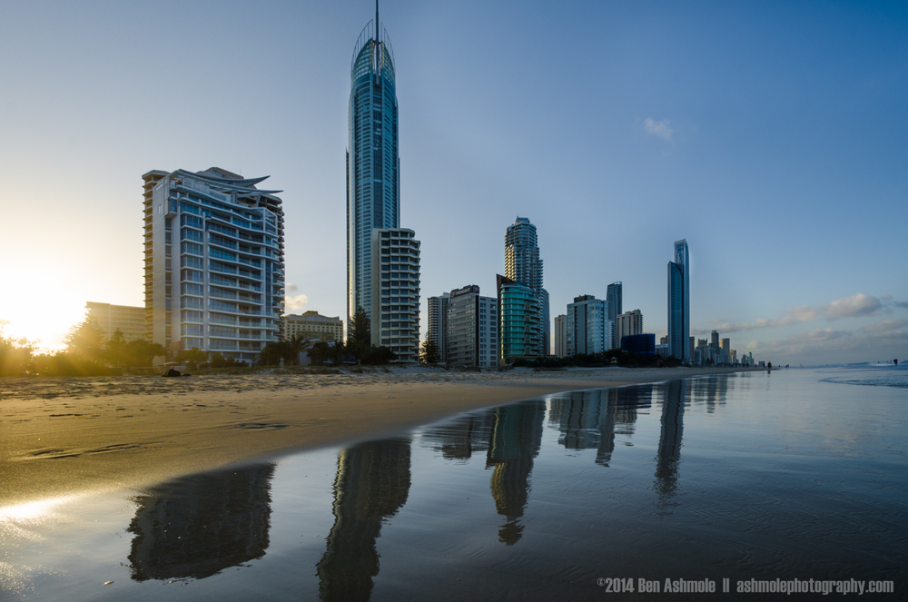 City Beach Reflections, Gold Coast, Australia