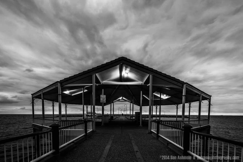 Redcliffe Jetty In Monochrome, Brisbane, QLD, Australia