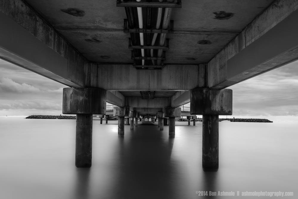 Under Redcliffe Jetty, Brisbane, QLD, Australia