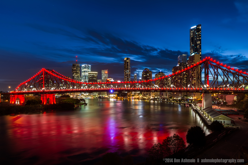 Brisbane City Blue Hour, Queensland, Australia
