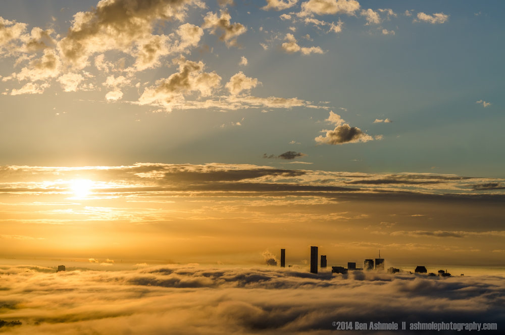 City In The Clouds, Mt Coot-Tha, Brisbane, Queenslands, Australi