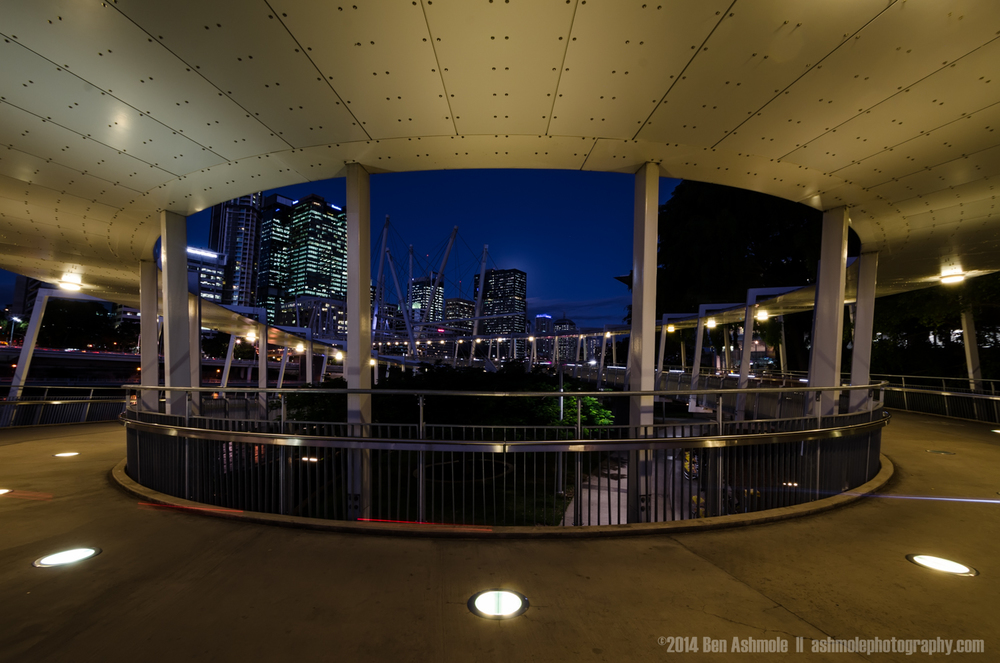 Curve Of The Walkway, Kurilpa Bridge, Brisbane, Australia