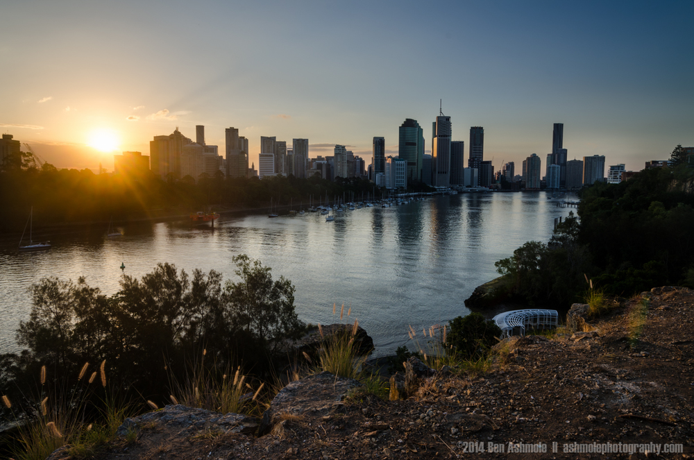 Sunset City Skyline, Brisbane, Australia