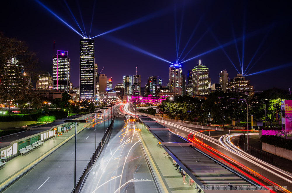 City Light Show, Brisbane, Australia