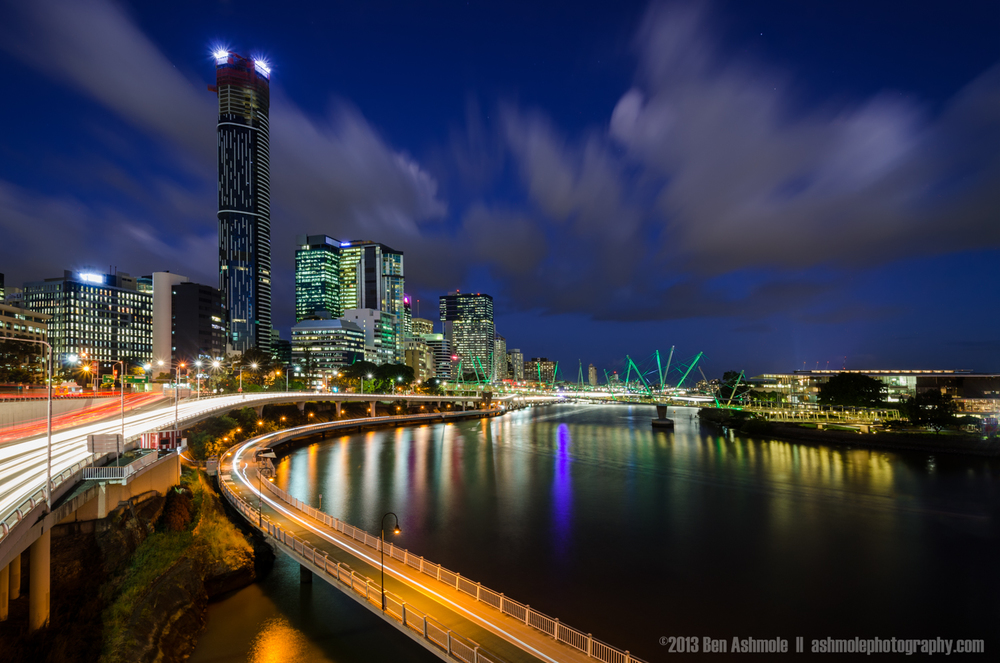 Blue Hour By the River, Brisbane, Queensland, Australia