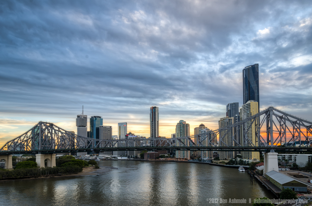 Moody City Sunset, Brisbane, Queensland, Australia