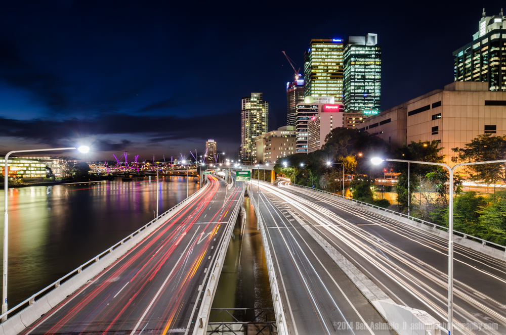 City Highway Lights, Brisbane, Australia