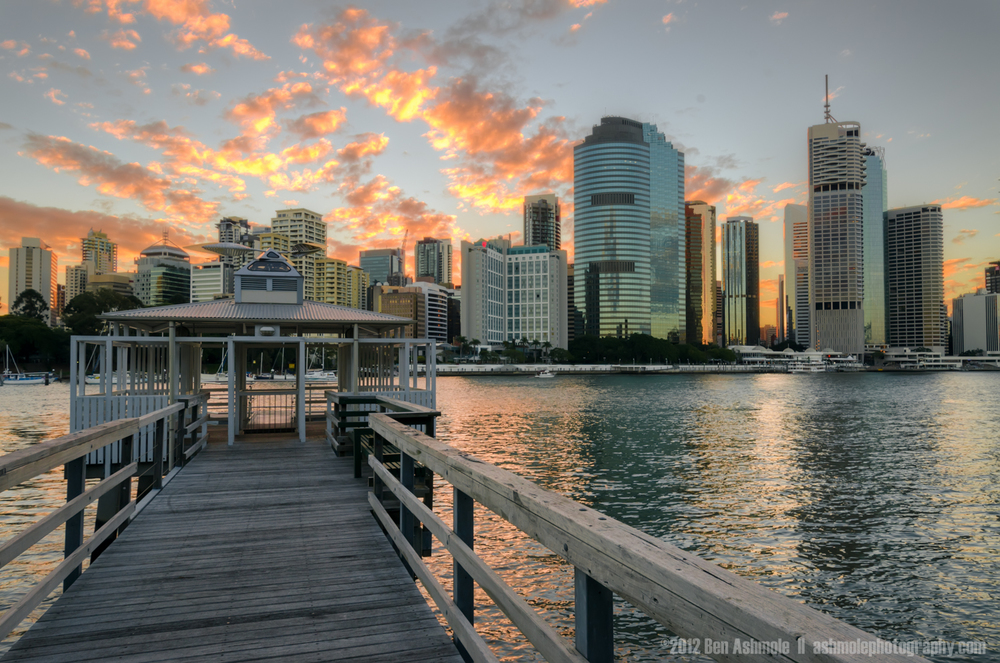 River Jetty at Sunset, Brisbane, Australia, Ben Ashmole