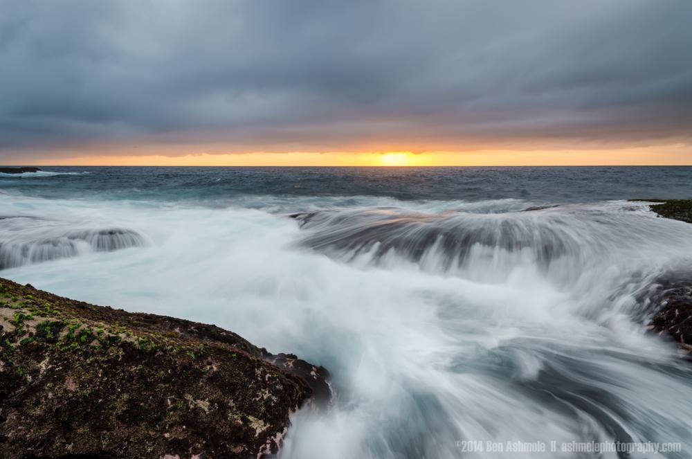 Sunrise On the Rocks, Bondi Beach, Sydney, Australia