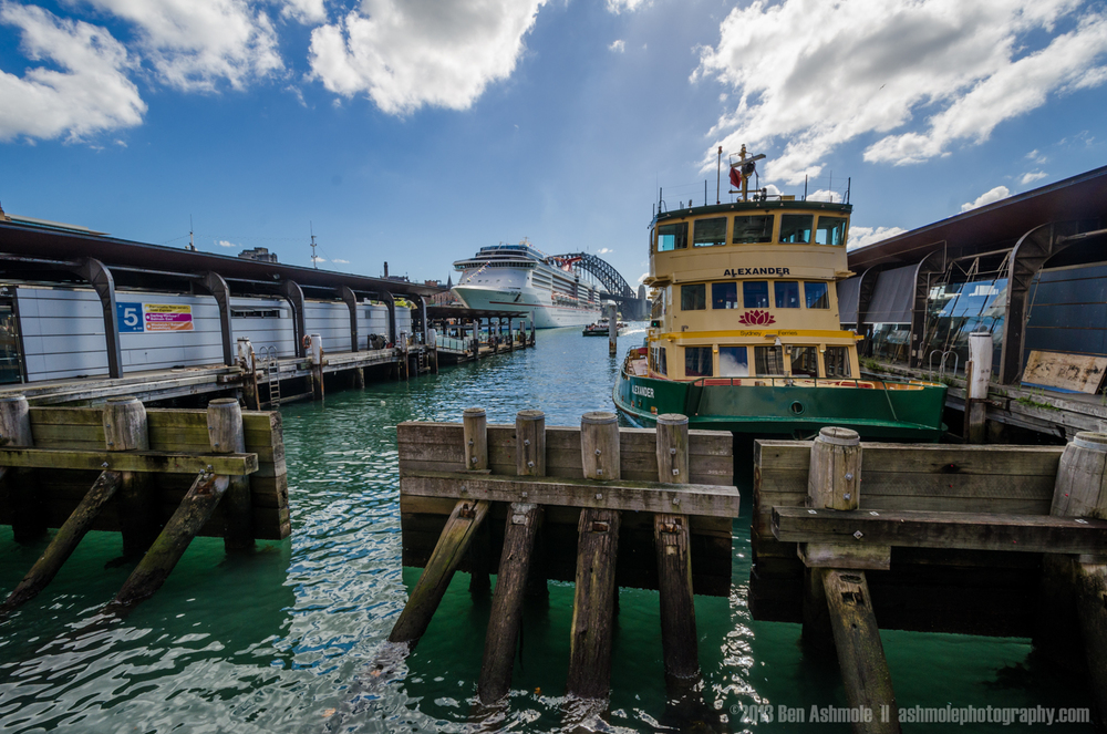 The Circular Quay Harbour Ferry Terminal, Sydney, New South Wale