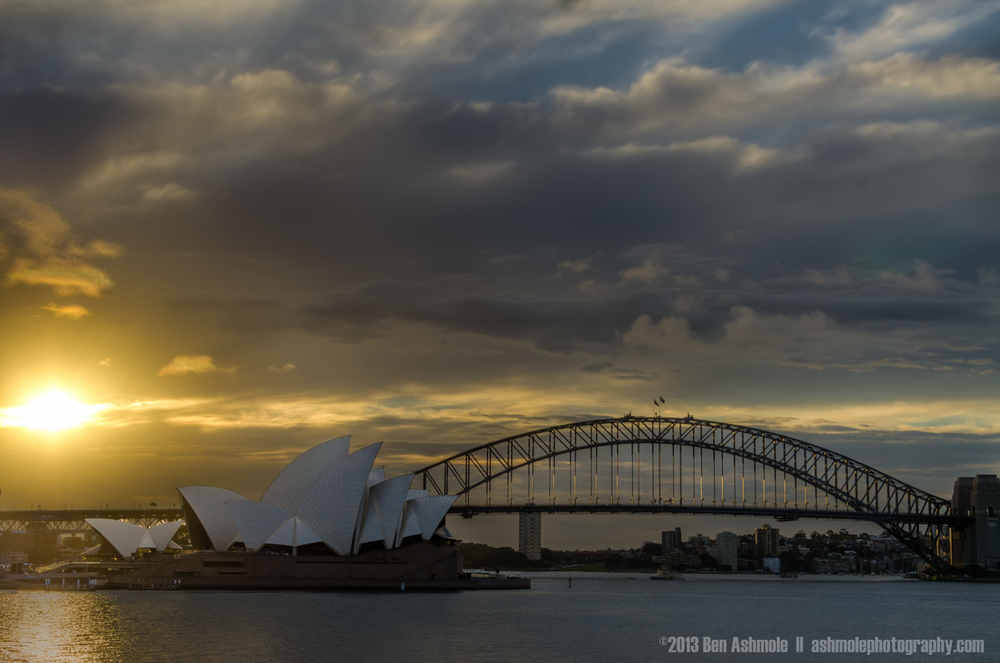 Sunset Over the Opera House, Sydney, New South Wales, Australia