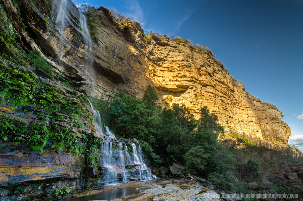Waterfall By The Golden Cliff, Blue Mountains, New South Wales,