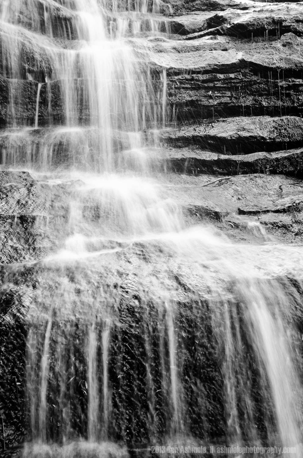 Black And White Falls, Blue Mountians, New South Wales, Australi