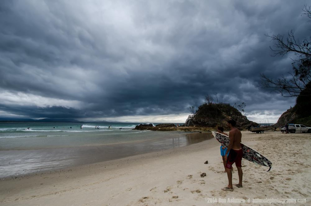 Surfing In A Storm, Byron Bay, Australia