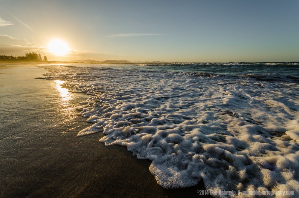 Seafoam And The Sun, Byron Bay, Australia