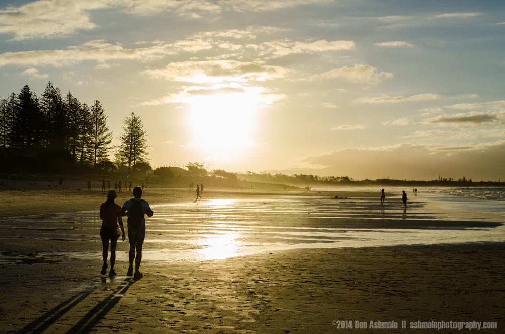 Walking On The Beach, Byron Bay, Australia