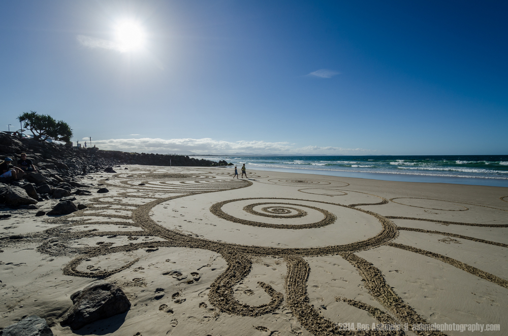 Patterns In The Sand, Byron Bay, Australia