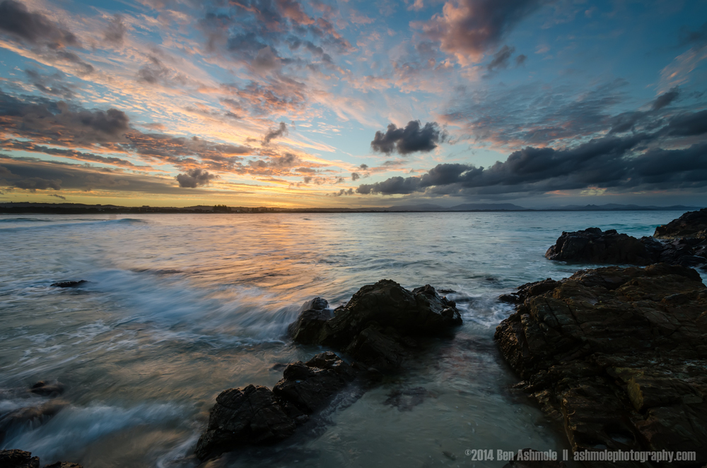 Sunset From The Rocks, Byron Bay, Australia