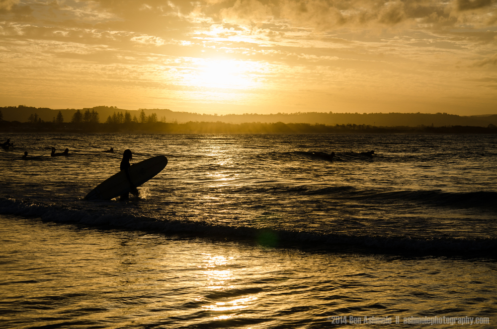 Sunset Surfer, Byron Bay, Australia